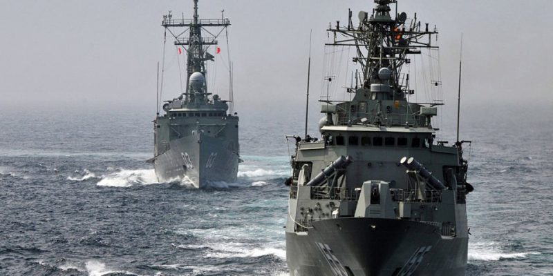 Australian navy in the South China Sea. The AUKUS agreement turns bilateral imperialist tensions into the beginning of a war-oriented struggle between imperialist blocs.