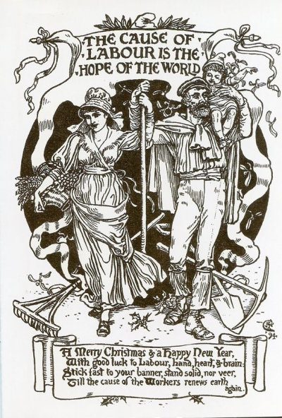 """Walter Crane """"The cause of Labor is the hope of the World"""" allegory of the moral dimension of the centrality of work."""