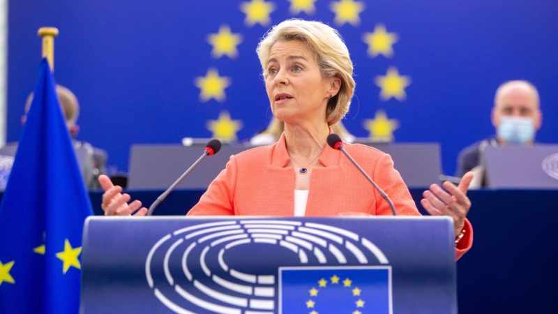 """Von der Leyen promised in last week's debate on the future of the Union a summit co-organized with the French Council presidency to push forward the """"European Defense Union"""". The future of Europe passes through a further development of militarism."""